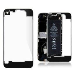 Hátlap, Apple iPhone 4S, fekete-átlátszó