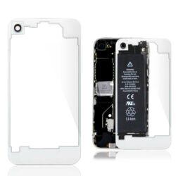 Hátlap, Apple iPhone 4S, fehér-átlátszó