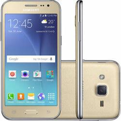 Mobiltelefon, Samsung J200H Galaxy J2 DualSIM 8GB, arany