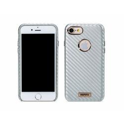 Hátlap tok, Apple iPhone 7, iPhone 8, Carbon - ezüst