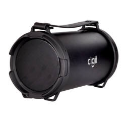 Multimédia Hangszóró, Cigii (Bluetooth és FM rádió), fekete (13,5x26,5 cm)