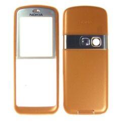 Nokia 6070 elő+akkuf, Előlap, narancs