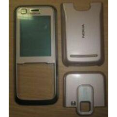 Nokia 6120 Classic elő+akkuf+antf, Előlap, rózsaszín