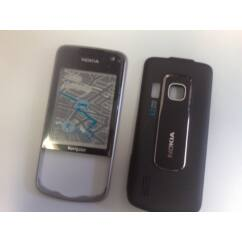 Nokia 6210 Nav elő+akkuf, Előlap, fekete