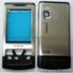 Nokia 6500 Sl elő+hát.ker, Előlap, ezüst