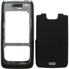 Nokia E65 elő+akkuf+köz, Előlap, fekete