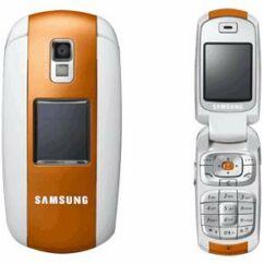 Samsung E530 komplett ház, Előlap, narancs