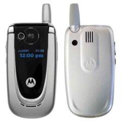 Motorola V300 komplett ház, Előlap, ezüst