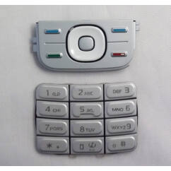 Nokia 5200/5300 alsó+felső, Gombsor (billentyűzet), ezüst