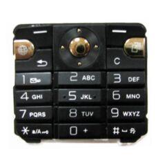 Sony Ericsson K530, Gombsor (billentyűzet), fekete