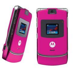 Motorola V3 elő+akkuf, Előlap, rózsaszín