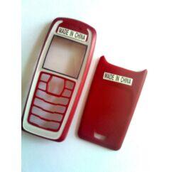 Nokia 3100 elő+akkuf., Előlap, piros