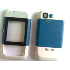 Nokia 5200 elő+akkuf, Előlap, fehér-kék