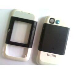 Nokia 5200 elő+akkuf, Előlap, fehér-fekete