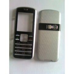 Nokia 6080 elő+akkuf, Előlap, ezüst