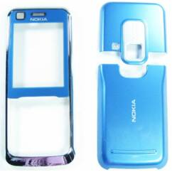 Nokia 6120 Classic elő+akkuf+antf, Előlap, kék