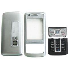 Nokia 6280 elő+akkuf+gomb, Előlap, ezüst