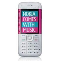 Nokia 5310 elő+akkuf, Előlap, fehér-lila