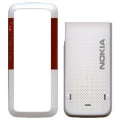 Nokia 5310 elő+akkuf, Előlap, fehér-narancs