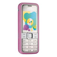 Nokia 7310 Sn elő+akkuf, Előlap, rózsaszín