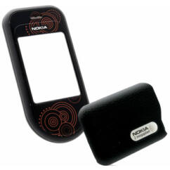 Nokia 7370/7373 elő+akkuf, Előlap, fekete
