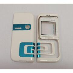 Nokia 7260 elő+akkuf, Előlap, fehér