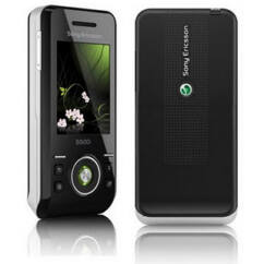 Sony Ericsson S500, Előlap, fekete