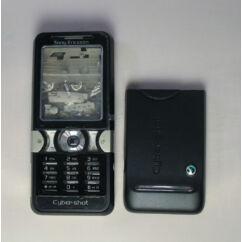 Sony Ericsson K550 komplett ház, Előlap, fekete