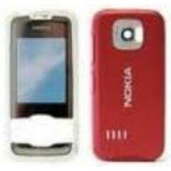 Nokia 7610 Supernova elő+akkuf, Előlap, piros