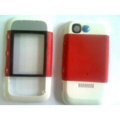 Nokia 5300 elő+akkuf, Előlap, piros
