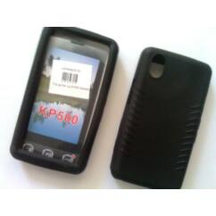 LG KP500/KP501/KP502, Szilikon tok, S-Case, fekete