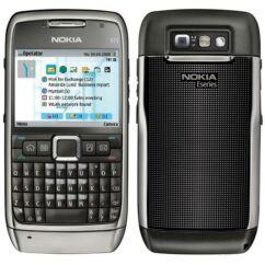 Nokia E71 elő+akkuf, Előlap, szürke