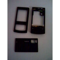 Nokia 6500 Sl komplett ház, Előlap, fekete