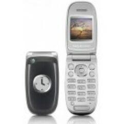 Sony Ericsson Z300, Előlap, ezüst