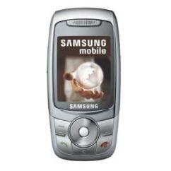 Samsung E740, Előlap, ezüst
