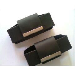 Fekvő bőr tok, Nokia 3310, fekete