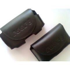 Fekvő bőr tok, Samsung D800, fekete