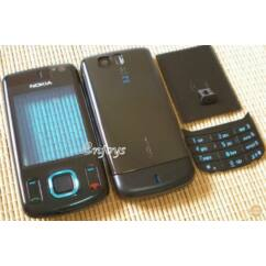 Nokia 6600 Sl elő+akkuf+gomb, Előlap, fekete