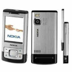 Nokia 6500 Sl komplett ház, Előlap, ezüst