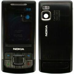 Nokia 6500 Sl komplett ház +gomb, Előlap, fekete
