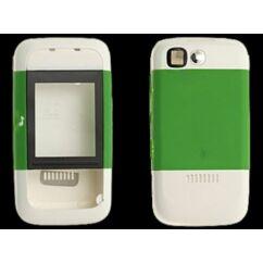 Nokia 5200 elő+akkuf, Előlap, fehér-zöld