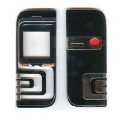 Nokia 7260 elő+akkuf, Előlap, fekete