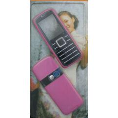 Nokia 6080 elő+akkuf, Előlap, rózsaszín
