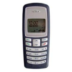 Nokia 2100 elő+akkuf, Előlap, fekete - gumis