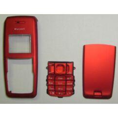 Nokia 2310 elő+akkuf.+gomb, Előlap, piros