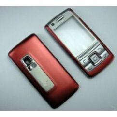 Nokia 6280 elő+akkuf, Előlap, piros