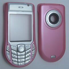 Nokia 6630 elő+akkuf, Előlap, rózsaszín