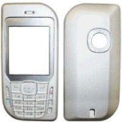 Nokia 6670 elő+akkuf, Előlap, ezüst
