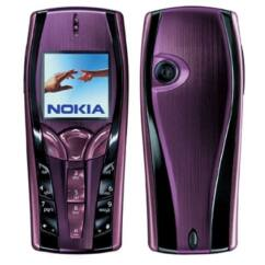 Nokia 7250 elő+akkuf, Előlap, mályva