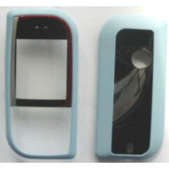 Nokia 7610 elő+akkuf, Előlap, világoskék